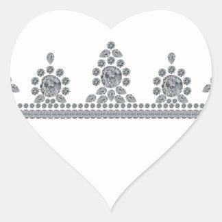 American Heiress Tiara Heart Sticker
