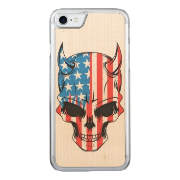 USA Themed American Hellion Carved iPhone 7 Case