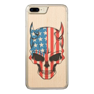 USA Themed American Hellion Carved iPhone 7 Plus Case
