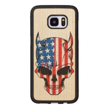 USA Themed American Hellion Wood Samsung Galaxy S7 Edge Case