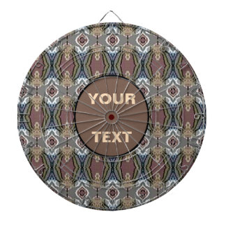 American Heritage Colors Pattern w/Text Boxes Dartboard With Darts