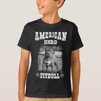 American Hero Pitbull Dog T-Shirt