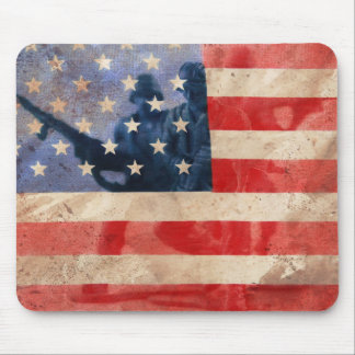 American Heroes Flag design Mouse Pad