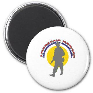 American Heroes Magnet
