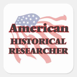 American Historical Researcher Square Sticker