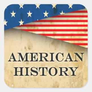 American History Genre Book Cover Square Sticker