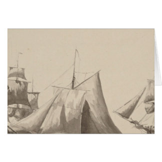 American History - Sailing from Halifax Card