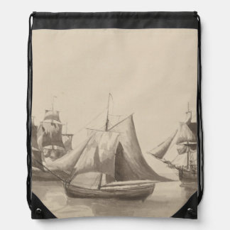 American History - Sailing from Halifax Drawstring Bag
