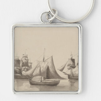 American History - Sailing from Halifax Keychain