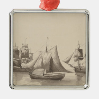 American History - Sailing from Halifax Metal Ornament