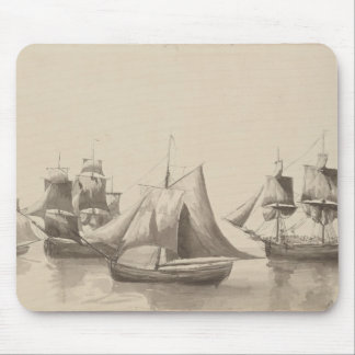 American History - Sailing from Halifax Mouse Pad