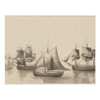 American History - Sailing from Halifax Postcard