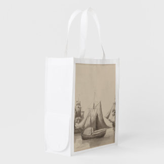 American History - Sailing from Halifax Reusable Grocery Bag