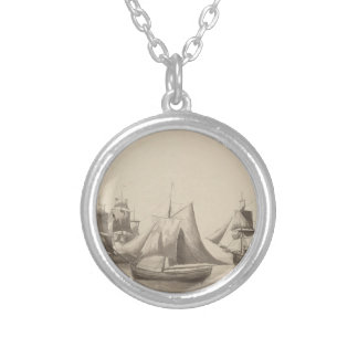 American History - Sailing from Halifax Silver Plated Necklace