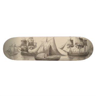 American History - Sailing from Halifax Skateboard