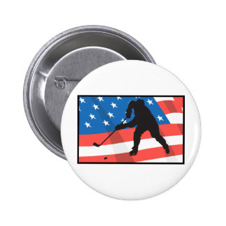 American Hockey Pinback Buttons