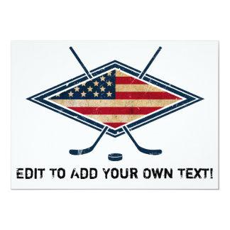 American Hockey Flag Logo Card