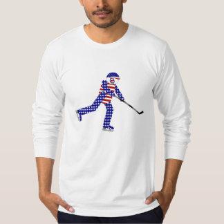 American Hockey Player T Shirt