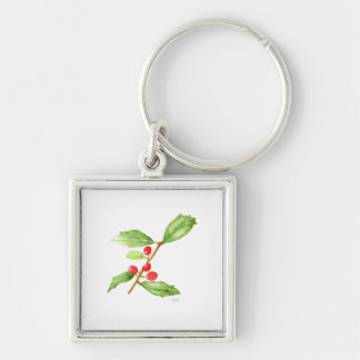 American Holly Keychain