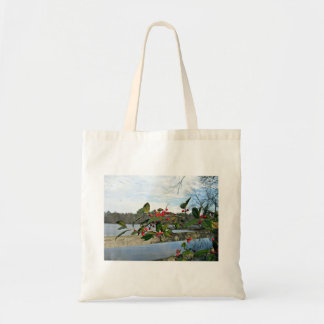 American Holly showing red berries and rigid leaf Canvas Bag