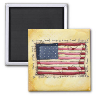 american home sweet home 2 inch square magnet