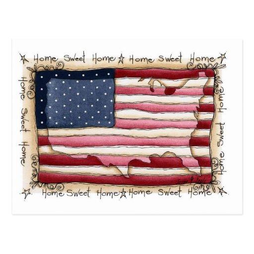 american home sweet home postcard