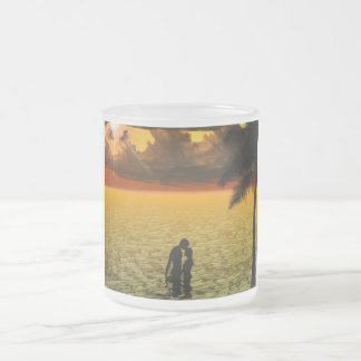 American Honey Frosted Glass Coffee Mug