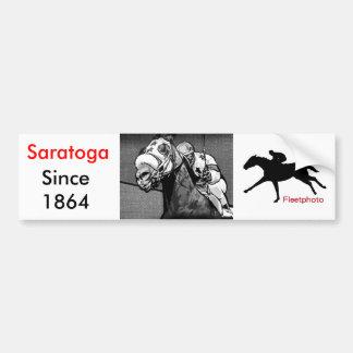American Horse Racing Art Bumper Sticker