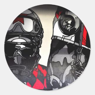 American Horse Racing Art Classic Round Sticker