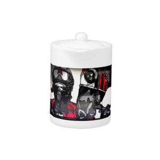 American Horse Racing Art Teapot