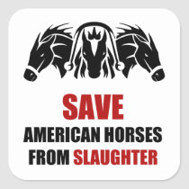 American Horses Animal Rescue Stickers