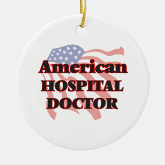 American Hospital Doctor Double-Sided Ceramic Round Christmas Ornament