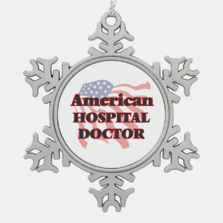 American Hospital Doctor Snowflake Pewter Christmas Ornament