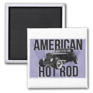 American Hot Rod - blue version Magnet