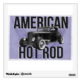 American Hot Rod - blue version Wall Sticker