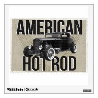 American Hot Rod - brown version Wall Sticker