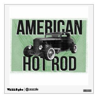 American Hot Rod - green version Wall Sticker