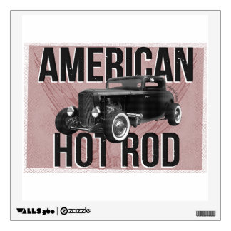 American Hot Rod - red version Wall Decal