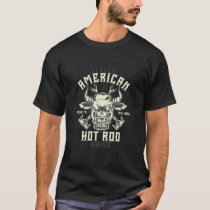 American Hot Rod Vintage Style Bull T-Shirt