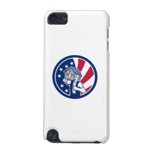 American House Removal USA Flag Icon iPod Touch (5th Generation) Cover