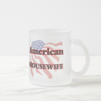 American Housewife 10 Oz Frosted Glass Coffee Mug