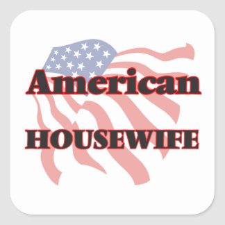 American Housewife Square Sticker