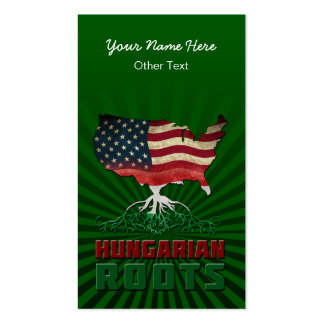 American Hungarian Roots Custom Business Cards