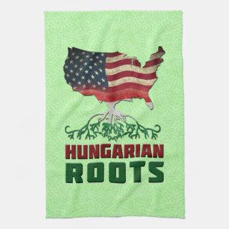 American Hungarian Roots Tea Towel