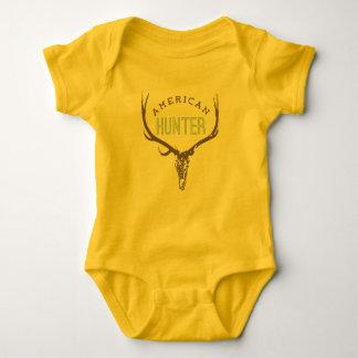 American Hunter - Skull with Rack deer / elk Baby Bodysuit