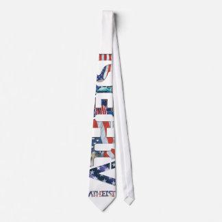 American Icon Atheist Neck Tie