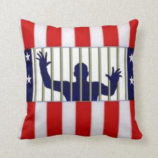American Incarceration Throw Pillow