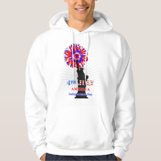 American Independence 4th July Celebration Graphic Hooded Pullover