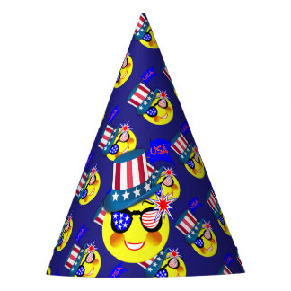 American Independence 4th July Celebration Graphic Party Hat