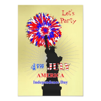 American Independence 4th July Celebration Party Card